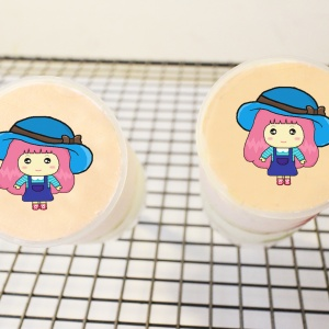 粉紅QQ妹,生日快樂 ( 圖案可以吃喔 ) 手工冰淇淋彩虹水果蛋糕__推推杯 (唯一可全台宅配冰淇淋蛋糕) ( 可勾不要冰淇淋, 也可勾要冰淇淋 ) ( 一種杯子蛋糕 ) [ designed by 粉紅QQ妹 ],