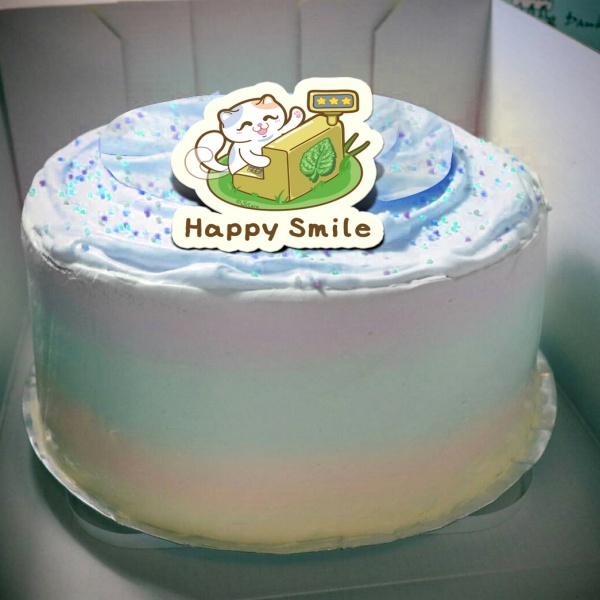 Sitara,Happy Smile( 圖案可以吃喔!) 手工冰淇淋千層蛋糕 (唯一可全台宅配冰淇淋千層蛋糕) ( 可勾不要冰淇淋, 也可勾要冰淇淋 ) [ designed by Sitara],