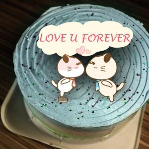 Lainie,Love u Forever( 圖案可以吃喔!)手工冰淇淋千層蛋糕 (唯一可全台宅配冰淇淋千層蛋糕) ( 可勾不要冰淇淋, 也可勾要冰淇淋 ) [ designed by 哈妮貓 ],
