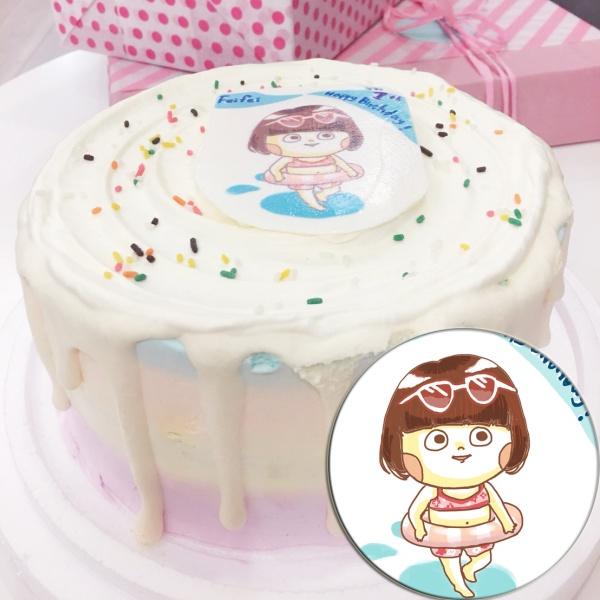 J.HO, Q版_彩虹水果蛋糕 ( 下方可勾選不做冰淇淋變成慕斯、也可做冰淇淋),插畫家, 冰淇淋, 慕斯, 彩虹蛋糕, 與手工甜點對話的Susan, 奶霜彩繪蛋糕, 手工甜點,PX漫漫手工市集, PX, 百萬LINE明星,甜點表心意, PrinXure, 客製化, 插畫, LINE, 百萬LINE明星陪你吃蛋糕, 漫漫手工市集, PrinXure, 拍洗社, 插畫家, 插畫角色, 布朗尼, PrinXure, 餅乾, 拍立得造型, 禮物, DESSERT365, 找甜甜網