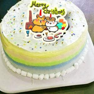 Colapi 可樂餅的島 Colapi 可樂餅的島,聖誕節快樂_( 圖案可以吃喔!)手工冰淇淋彩虹水果蛋糕 (唯一可全台宅配冰淇淋蛋糕) ( 可勾不要冰淇淋, 也可勾要冰淇淋 ) [ designed by Colapi 可樂餅的島 ],