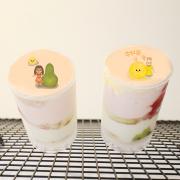 草莓,中秋節快樂_( 圖案可以吃喔 ) 手工彩虹水果蛋糕__推推筒系列 ( 可勾不要冰淇淋, or 要冰淇淋 )(或名推推杯, 類似杯子蛋糕) [ designed by 草莓幸福畫小館 ],