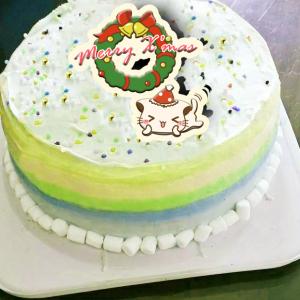 Lainie,聖誕節快樂_( 圖案可以吃喔!)手工冰淇淋蛋糕 (唯一可全台宅配冰淇淋蛋糕) ( 可勾不要冰淇淋, 也可勾要冰淇淋 ) [ designed by Colapi 哈妮貓 ],