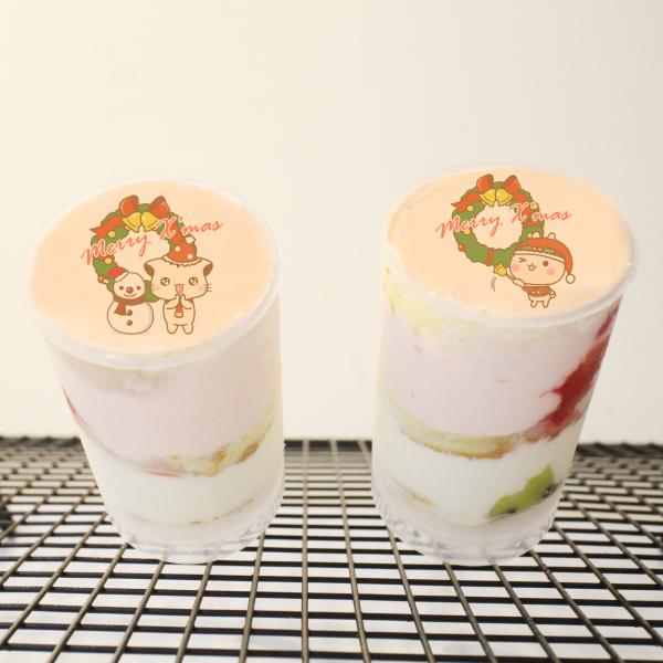 Lainie,聖誕節快樂_( 圖案可以吃喔 ) 手工冰淇淋千層蛋糕__推推杯 (唯一可全台宅配冰淇淋千層蛋糕) ( 可勾不要冰淇淋, 也可勾要冰淇淋 ) ( 一種杯子蛋糕 ) [ designed by Colapi 哈妮貓 ],
