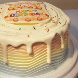 mrstina_design,生日大快樂~( 圖案可以吃喔!)手工冰淇淋彩虹水果蛋糕 (唯一可全台宅配冰淇淋蛋糕) ( 可勾不要冰淇淋, 也可勾要冰淇淋 ) [ designed by Mrs.Tina],