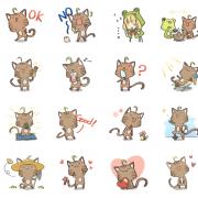 那米克貓 Namilkcat 那米克貓 Namilkcat,貓 嘴饞系列 - 茶包巧克力餅乾 [ designed by 那米克貓 Namilkcat ],