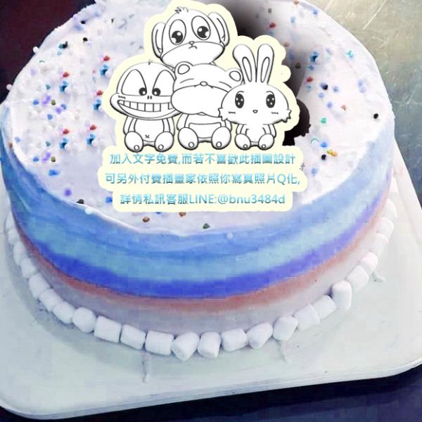 UNi 優尼 UNi 優尼,動物園 ( 圖案可以吃喔!) 手工彩虹水果蛋糕 ( 可勾不要冰淇淋, 也可勾要冰淇淋 ) [ designed by UNi 優尼 ],