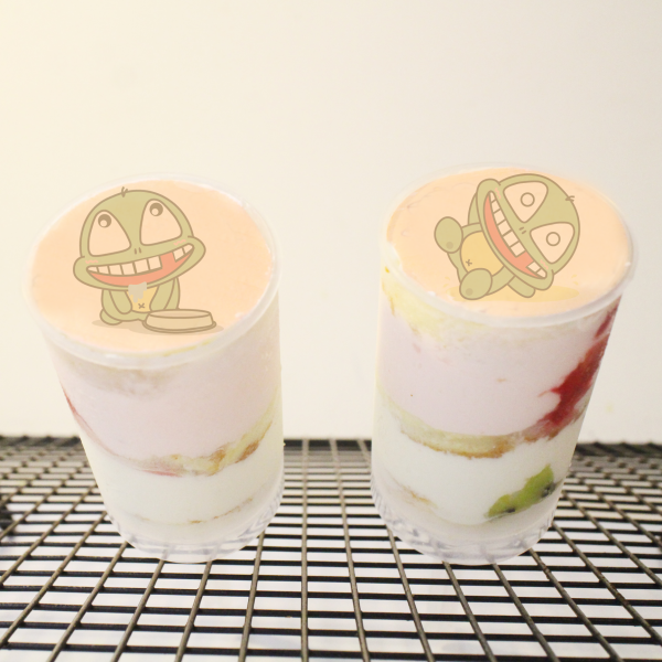 UNi 優尼 UNi 優尼,( 圖案可以吃喔 ) 手工Semifreddo義大利彩虹水果蛋糕__推推杯 (唯一可全台宅配冰淇淋蛋糕) ( 可勾不要冰淇淋, 也可勾要冰淇淋 ) ( 一種杯子蛋糕 ) [ designed by UNi 優尼 ],