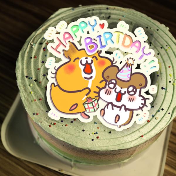 Colapi 可樂餅的島 Colapi 可樂餅的島,生日快樂 ( 圖案可以吃喔!) 手工冰淇淋彩虹水果蛋糕 (唯一可全台宅配冰淇淋蛋糕) ( 可勾不要冰淇淋, 也可勾要冰淇淋 ) [ designed by Colapi 可樂餅的島 ],