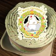 chieko0627,聖誕節快樂 ( 圖案可以吃喔!) 手工彩虹水果蛋糕 ( 可勾不要冰淇淋, 也可勾要冰淇淋 ) [ designed by 千梔子 Chi E Ko Studio ],