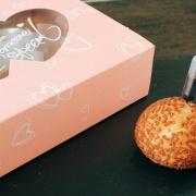 susan susan,針筒冰淇淋泡芙禮盒 or 彌月盒 ,可包含星巴克咖啡口味喔  ( 6入一盒、5盒以上可與客服商議團購價,限定放冷凍、另有單顆彌月免費試吃)(外島與國外都可配送),
