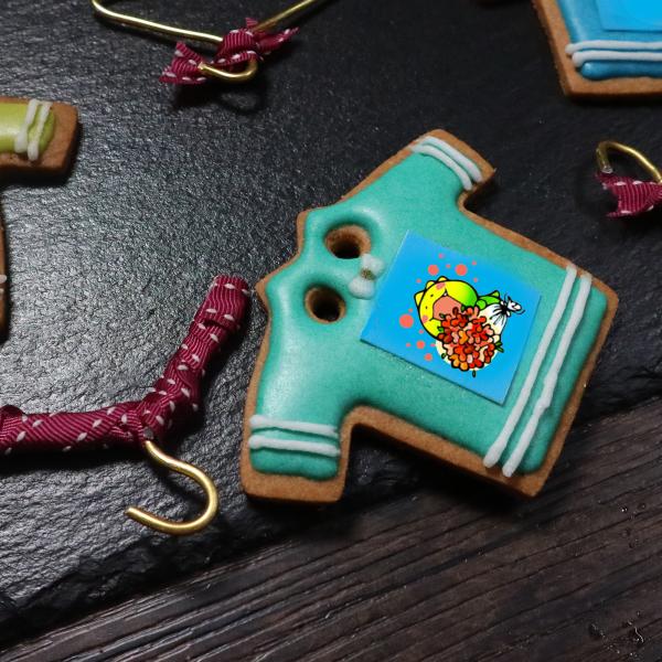 dousdaily,Tandora收涎餅乾 ( 附贈禮盒 )(收涎保孩子衣食無缺) ( 12片1盒、含紅線&穿洞 )  [ designed by 荳荳 ],
