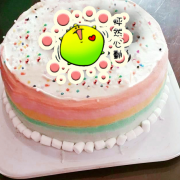 dousdaily,怦然心動 ( 圖案可以吃喔!) 手工冰淇淋彩虹水果蛋糕 (唯一可全台宅配冰淇淋蛋糕) ( 可勾不要冰淇淋, 也可勾要冰淇淋 ) [ designed by 荳荳 ],