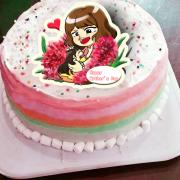 xiuxiu913,母親節快樂 ( 圖案可以吃喔!) 手工冰淇淋彩虹水果蛋糕 (唯一可全台宅配冰淇淋蛋糕) ( 可勾不要冰淇淋, 也可勾要冰淇淋 ) [ designed by 咻咻Xiu Xiu ],