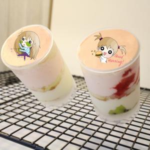 nicolechang1230,黏土不能當面膜 ( 圖案可以吃喔 ) 手工冰淇淋千層蛋糕__推推杯 (唯一可全台宅配冰淇淋千層蛋糕) ( 可勾不要冰淇淋, 也可勾要冰淇淋 ) ( 一種杯子蛋糕 ) [ designed by 米恩小時候 ],