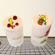 dousdaily,花 ( 圖案可以吃喔 ) 手工Semifreddo義大利彩虹水果蛋糕__推推杯 (唯一可全台宅配冰淇淋蛋糕) ( 可勾不要冰淇淋, 也可勾要冰淇淋 ) ( 一種杯子蛋糕 ) [ designed by 荳荳 ],