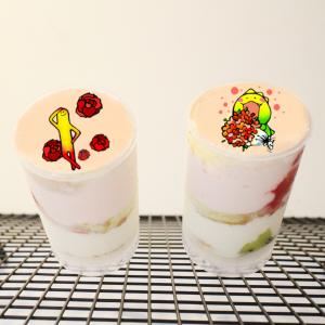 花,荳荳, 冰淇淋蛋糕, 推推桶, PX 漫漫手工甜點市集, 手工甜點, 冰淇淋蛋糕, 與手工甜點對話的Susan, 插畫, 客製化
