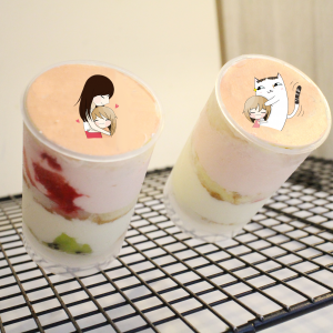 nicolechang1230,母親節快樂 ( 圖案可以吃喔 ) 手工冰淇淋千層蛋糕__推推杯 (唯一可全台宅配冰淇淋千層蛋糕) ( 可勾不要冰淇淋, 也可勾要冰淇淋 ) ( 一種杯子蛋糕 ) [ designed by 米恩小時候 ],