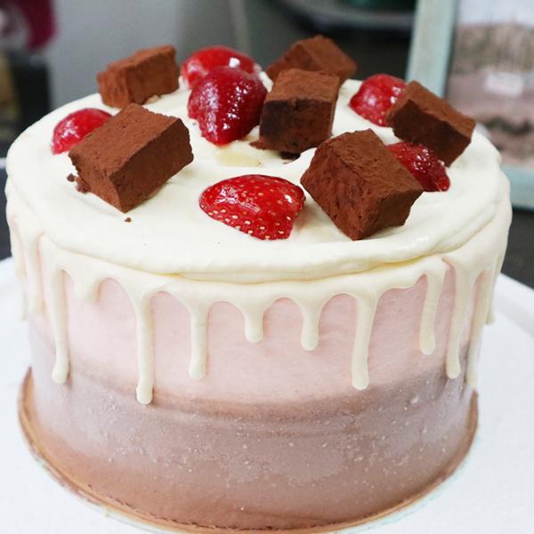 susan susan,冰淇淋彩虹水果蛋糕__草莓  x 生巧克力雙星 (唯一可全台宅配冰淇淋蛋糕) ( 可勾不做冰淇淋、也可做冰淇淋),