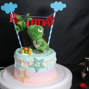 susan susan,冰淇淋裝飾水果蛋糕__樂天恐龍星球 (附贈恐龍公仔、1個專屬插旗、一個樹木擺飾、恐龍蛋(可食用)    ) (唯一可全台宅配冰淇淋蛋糕) ( 可勾不做冰淇淋、也可做冰淇淋),