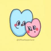 情人節快樂, Tiff's whisperland, 茶包巧克力餅乾,漫漫手工甜點市集, PX, 插畫家, LINE, 插畫, 造型甜點, 造型蛋糕, 客製化, 零食