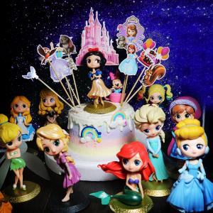Elsa, 安娜, 美人魚, 小飛俠, 貝拉公主, 睡美人, 小丑女, 長髮公主, 愛麗絲,白雪公主, 迪士尼, 公主, 公仔, 玩具, 裝飾蛋糕, 冰淇淋蛋糕, Dessert365, PX 漫漫手工甜點市集, 手工甜點, 冰淇淋蛋糕, 與手工甜點對話的Susan, 插畫, 客製化