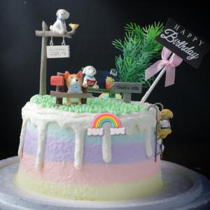 小狗, 柴犬, 公仔, 玩具, 裝飾蛋糕, 冰淇淋蛋糕, Dessert365, PX 漫漫手工甜點市集, 手工甜點, 冰淇淋蛋糕, 與手工甜點對話的Susan, 插畫, 客製化