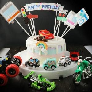 汽車總動員, 公仔, 玩具, 裝飾蛋糕, 冰淇淋蛋糕, Dessert365, PX 漫漫手工甜點市集, 手工甜點, 冰淇淋蛋糕, 與手工甜點對話的Susan, 插畫, 客製化