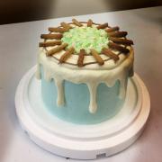 湯瑪士小火車, 公仔, 玩具, 裝飾蛋糕, 冰淇淋蛋糕, Dessert365, PX 漫漫手工甜點市集, 手工甜點, 冰淇淋蛋糕, 與手工甜點對話的Susan, 插畫, 客製化