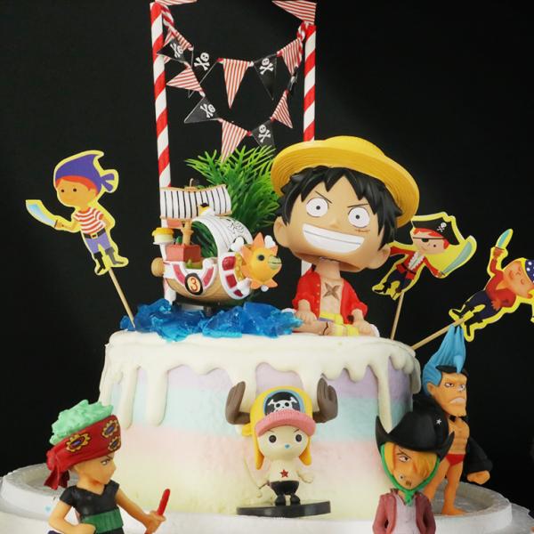 susan susan,冰淇淋裝飾水果蛋糕__偉大航路之島嶼  ( 附贈海賊王魯夫、梅利號、海盜專屬拉旗、海賊王夥伴們、海洋果凍、島上叢林裝飾造型不定期調整, 但主題與數量都會一致請放心。部分蛋糕依照您勾選的附件贈品種類與數量不同,材積與蛋糕造型會有增加或者變動,因此蛋糕售價會跟著浮動) (唯一可全台宅配冰淇淋蛋糕) ( 可勾不做冰淇淋、也可做冰淇淋,此奶醬是獨家研發的天然配方,熬煮多小時製作而成的,優點是低糖、好吃健康、且宅配不容易壞損融化!  吃的時候記得照包裝上「食用說明」吃,冷凍保存、退冰約5~10分鐘,退太久一般會融化,雖然Susan老師的不會輕易融化但也會失去冰淇淋口感,要注意喔!(回放冷凍1HR即可又恢復冰淇淋口感)(裝飾品為贈品不得轉售)),