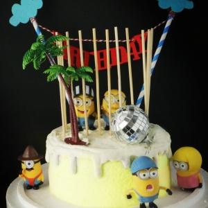 小小兵, 公仔, 玩具, 裝飾蛋糕, 冰淇淋蛋糕, Dessert365, PX 漫漫手工甜點市集, 手工甜點, 冰淇淋蛋糕, 與手工甜點對話的Susan, 插畫, 客製化