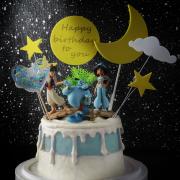 susan susan,全台唯一可宅配_冰淇淋千層蛋糕__三個願望  ( 附上阿拉丁、茉莉公主、精靈、綠洲插件、魔法愛心、魔法月亮造型不定期調整*。.) (##也可不做冰淇淋 )...  ....(裝飾品為贈品不得轉售..平均哈根達斯蛋糕熱量的1/5台灣蛋糕的1/4))防疫期間,尤其雙北桃園新竹,下單表示同意可能延誤,台灣加油!,
