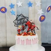 susan susan, 情境蛋糕__我們是一家人  ( 附贈超人特攻隊家族、超人插件、生日插件 裝飾造型不定期調整, 但主題與數量都會一致請放心。部分蛋糕依照您勾選的附件贈品種類與數量不同,材積與蛋糕造型會有增加或者變動,因此蛋糕售價會跟著浮動) (唯一可全台宅配 情境蛋糕) ( 可勾不做冰淇淋、也可做冰淇淋,此奶醬是獨家研發的天然配方,熬煮多小時製作而成的,優點是低糖、好吃健康、且宅配不容易壞損融化!  吃的時候記得照包裝上「食用說明」吃,冷凍保存、退冰約5~10分鐘,退太久一般會融化,雖然Susan老師的不會輕易融化但也會失去冰淇淋口感,要注意喔!(回放冷凍1HR即可又恢復冰淇淋口感)(裝飾品為贈品不得轉售)),