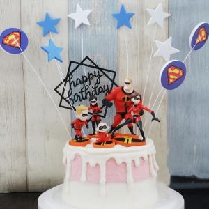 超人特攻隊, 公仔, 玩具, 裝飾蛋糕, 冰淇淋蛋糕, Dessert365, PX 漫漫手工甜點市集, 手工甜點, 冰淇淋蛋糕, 與手工甜點對話的Susan, 插畫, 客製化