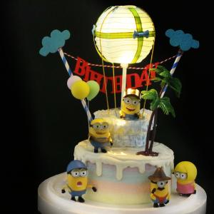 susan susan,冰淇淋裝飾水果蛋糕__熱氣球派對 ( 附贈各式公仔、熱氣球、雲朵拉旗、氣球擺件、野外叢林 ) (唯一可全台宅配冰淇淋蛋糕) ( 可勾不做冰淇淋、也可做冰淇淋),
