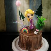 長髮公主, 公仔, 玩具, 裝飾蛋糕, 冰淇淋蛋糕, Dessert365, PX 漫漫手工甜點市集, 手工甜點, 冰淇淋蛋糕, 與手工甜點對話的Susan, 插畫, 客製化
