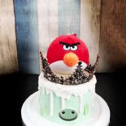 憤怒鳥, 公仔, 玩具, 裝飾蛋糕, 冰淇淋蛋糕, Dessert365, PX 漫漫手工甜點市集, 手工甜點, 冰淇淋蛋糕, 與手工甜點對話的Susan, 插畫, 客製化