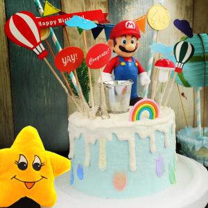 馬力歐, 水管, 公仔, 玩具, 裝飾蛋糕, 冰淇淋蛋糕, Dessert365, PX 漫漫手工甜點市集, 手工甜點, 冰淇淋蛋糕, 與手工甜點對話的Susan, 插畫, 客製化