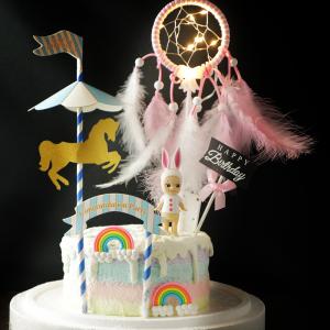捕夢網, 公仔, 玩具, 裝飾蛋糕, 冰淇淋蛋糕, Dessert365, PX 漫漫手工甜點市集, 手工甜點, 冰淇淋蛋糕, 與手工甜點對話的Susan, 插畫, 客製化