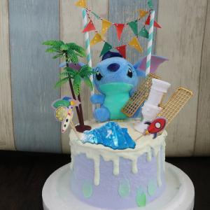 史迪奇, 公仔, 玩具, 裝飾蛋糕, 冰淇淋蛋糕, Dessert365, PX 漫漫手工甜點市集, 手工甜點, 冰淇淋蛋糕, 與手工甜點對話的Susan, 插畫, 客製化