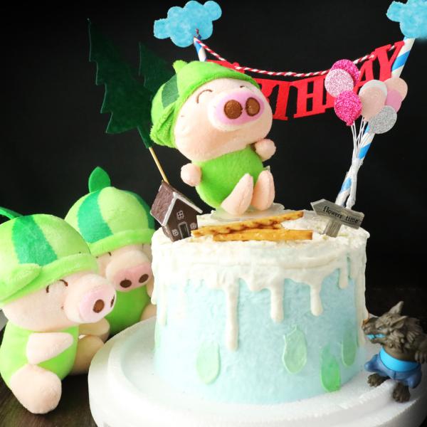 豬小弟, 公仔, 玩具, 裝飾蛋糕, 冰淇淋蛋糕, Dessert365, PX 漫漫手工甜點市集, 手工甜點, 冰淇淋蛋糕, 與手工甜點對話的Susan, 插畫, 客製化