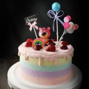 susan susan, 情境蛋糕__熊抱哥的草莓滋味 ( 內餡料預設草莓炸彈為主、附贈熊抱哥(草莓熊人)、亮晶晶球、生日快樂插件、立體彩虹、氣球插件,裝飾造型不定期調整, 但主題與數量都會一致請放心。部分蛋糕依照您勾選的附件贈品種類與數量不同,材積與蛋糕造型會有增加或者變動,因此蛋糕售價會跟著浮動) (唯一可全台宅配 情境蛋糕) ( 可勾不做冰淇淋、也可做冰淇淋,此奶醬是獨家研發的天然配方,熬煮多小時製作而成的,優點是低糖、好吃健康、且宅配不容易壞損融化!  吃的時候記得照包裝上「食用說明」吃,冷凍保存、退冰約5~10分鐘,退太久一般會融化,雖然Susan老師的不會輕易融化但也會失去冰淇淋口感,要注意喔!(回放冷凍1HR即可又恢復冰淇淋口感)(裝飾品為贈品不得轉售)),