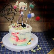 susan susan,冰淇淋裝飾水果蛋糕___小丑女 ( 彩色球餅乾、氣球插件(顏色隨機)、魔法亮片插件、生日快樂插件,裝飾造型不定期調整, 但主題與數量都會一致請放心。部分蛋糕依照您勾選的附件贈品種類與數量不同,材積與蛋糕造型會有增加或者變動,因此蛋糕售價會跟著浮動) (唯一可全台宅配冰淇淋蛋糕) ( 可勾不做冰淇淋、也可做冰淇淋,此奶醬是獨家研發的天然配方,熬煮多小時製作而成的,優點是低糖、好吃健康、且宅配不容易壞損融化!  吃的時候記得照包裝上「食用說明」吃,冷凍保存、退冰約5~10分鐘,退太久一般會融化,雖然Susan老師的不會輕易融化但也會失去冰淇淋口感,要注意喔! (回放冷凍1HR即可又恢復冰淇淋口感)(裝飾品為贈品不得轉售)),