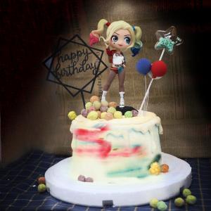 小丑女, 公仔, 玩具, 裝飾蛋糕, 冰淇淋蛋糕, Dessert365, PX 漫漫手工甜點市集, 手工甜點, 冰淇淋蛋糕, 與手工甜點對話的Susan, 插畫, 客製化