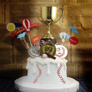 大聯盟, 棒球, 公仔, 玩具, 裝飾蛋糕, 冰淇淋蛋糕, Dessert365, PX 漫漫手工甜點市集, 手工甜點, 冰淇淋蛋糕, 與手工甜點對話的Susan, 插畫, 客製化