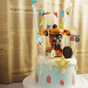 機器人, 變形金剛, 公仔, 玩具, 裝飾蛋糕, 冰淇淋蛋糕, Dessert365, PX 漫漫手工甜點市集, 手工甜點, 冰淇淋蛋糕, 與手工甜點對話的Susan, 插畫, 客製化