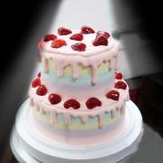 susan susan,冰淇淋千層蛋糕__草莓炸彈(可更換本站1,000名港台知名插畫家設計或者客製寫真照片圖案) (唯一可全台宅配 冰淇淋千層蛋糕, 共同利用宅配對抗武漢肺炎, 減少不必要外出,也可勾不做冰淇淋 )...  ....),