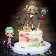 小丑, 小丑女, 公仔, 玩具, 裝飾蛋糕, 冰淇淋蛋糕, Dessert365, PX 漫漫手工甜點市集, 手工甜點, 冰淇淋蛋糕, 與手工甜點對話的Susan, 插畫, 客製化
