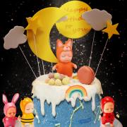 睡眠寶寶 , 公仔, 玩具, 裝飾蛋糕, 冰淇淋蛋糕, Dessert365, PX 漫漫手工甜點市集, 手工甜點, 冰淇淋蛋糕, 與手工甜點對話的Susan, 插畫, 客製化
