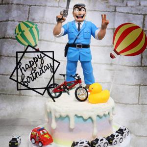susan susan,冰淇淋千層蛋糕__阿兩最帥 ( 附上烏龍派出所兩津勘吉、腳踏車、熱氣球、樂天小鴨, 造型不定期調整*。.) (唯一可宅配冰淇淋蛋糕#,也可不做冰淇淋 )...  ....(裝飾品為贈品不得轉售..平均哈根達斯蛋糕熱量的1/5台灣蛋糕的1/4)),
